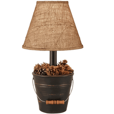Bucket of Pine Cones Black Lamp | Coast Lamp | CLM2635