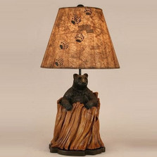 Black Bear in Tree Stump Table Lamp | Coast Lamp | CLM3202