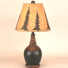 Pine Tree Black Table Lamp | Coast Lamp | CLM3323