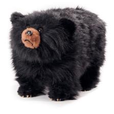 "Shaggy Black Bear Footstool ""Shadow"" | Carstens Friendly Footstool | Csb101"
