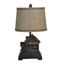Log Cabin Table Lamp | Crestview Collection | CVCCIAUP506