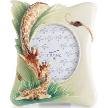Giraffe Photo Frame Endless Beauty | FZ02578 | Franz Porcelain Collection -2