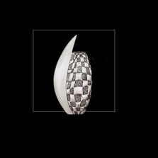 Silver Plated Checked Vase | U105 | D'Argenta