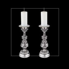 Silver Ornate Candlestick | u17 | D'Argenta