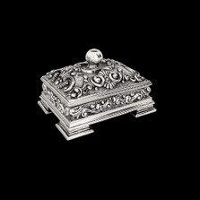 Sterling Silver Plated Jewelry Box U300   D'Argenta