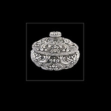 Silver Plated Round Jewelry Box U302   D'Argenta
