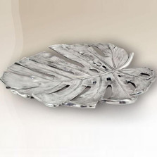 Philodendron Leaf Silver Plated Fruit Bowl | U31 | D'Argenta
