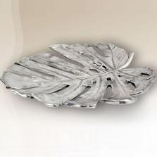 Monstera Leaf Silver Plated Fruit Bowl | U-31 | D'Argenta