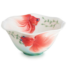 Goldfish Porcelain Bowl | FZ02591 | Franz Porcelain Collection