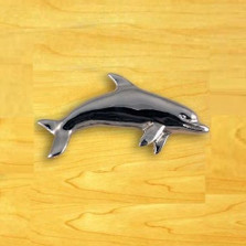 Dolphin Left Drawer Pull | Functional Fine Art | ffa02101