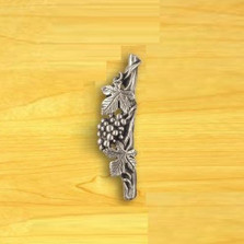 Grapes Left Vertical Drawer Pull | Functional Fine Art | ffa02147 -2