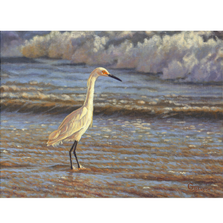 "Egret Print ""Surf Fisherman"" 