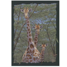 "Giraffe Print ""Family Tree"" 