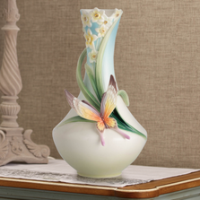 Papillon Butterfly Porcelain Vase | FZ02624 | Franz Porcelain Collection