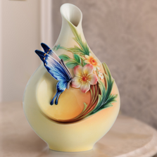 Fluttering Beauty Butterfly Small Vase | FZ02625