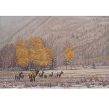 "Elk Print ""When Fall Turns to Winter"" 