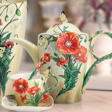 Van Gogh Poppy Porcelain Teapot | FZ02627 | Franz Porcelain Collection