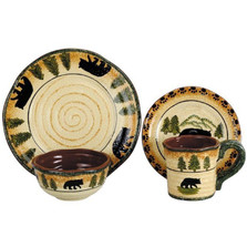 Bear Dinnerware 16 Pieces (4 pl. sets)  | HiEnd Accents | HMDI1810