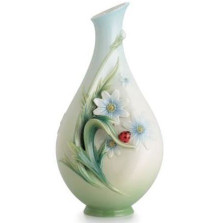 Ladybug Small Porcelain Vase | FZ02629 | Franz Porcelain Collection -2