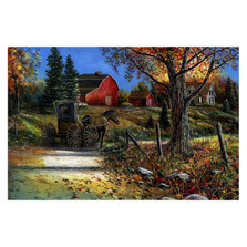 "Horse & Barn Print ""Country Roads"" 