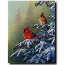 "Cardinal Print ""Winter Refuge"" 