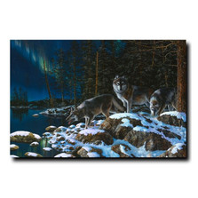 "Wolf Print ""Night Lights"" 