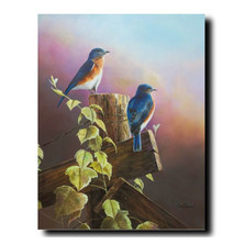 "Bluebirds Print  ""A Touch of Spring"" 