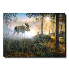 "Moose Print ""Walk in the Mist"" 