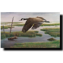 "Goose - Moose Print ""Wetlands and Wilds"" 