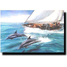 "Dolphin Print ""Sailing the Wind"" 