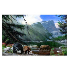 "Bear Print ""Foraging the Shallows"" 