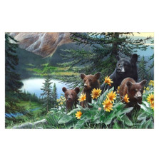 "Bear Print ""Basking in the Balsamroot"" 