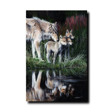 "Wolf Print ""Reflections"" 