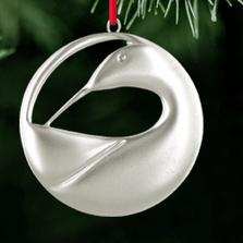 Preening Loon Polished Pewter Ornament | Lovell Designs | LOVor100