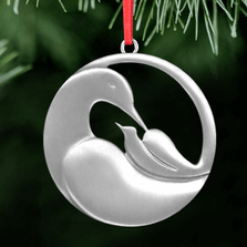 Dove Cradle Polished Pewter Ornament | Lovell Designs | LOVor135