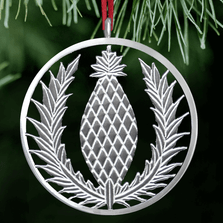 Pineapple Polished Pewter Ornament | Lovell Designs | LOVor159