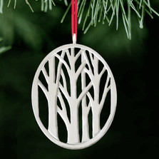Deep Forest Tree Polished Pewter Ornament | Lovell Designs | LOVor169