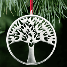 Arbor Vitae Tree of Life Polished Pewter Ornament | Lovell Designs | LOVOR200