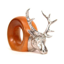 Elk Wood and Pewter Napkin Ring | Mbare | MBSERW0025