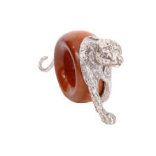 Cheetah Wood and Pewter Napkin Ring | Mbare | MBSERW0035