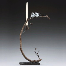Good Company Bronze Bird Candelabra | Mark Hopkins | MHS72011