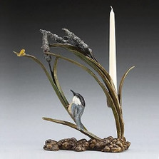 Catch Ya Later Bronze Candle Holder | Mark Hopkins | mhs72013