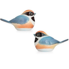 Black Throated Passerine Bird Salt Pepper Shakers | FZ02747 | Franz Porcelain -2