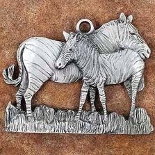Zebra Pewter Ornament | Andy Schumann | SCHMC122104