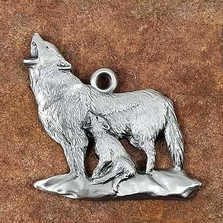 Wolf Pewter Ornament | Andy Schumann | SCHMC122106