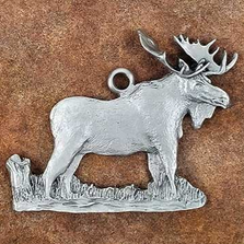 Moose Pewter Ornament | Andy Schumann | SCHMC122108