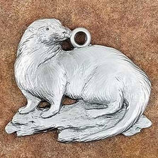 Otter Pewter Ornament | Andy Schumann | SCHMC122109
