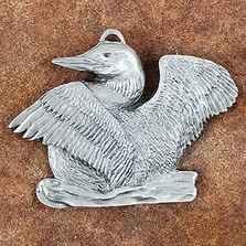 Loon Pewter Ornament | Andy Schumann | SCHMC122110