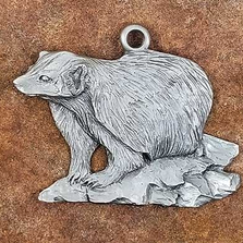 Badger Pewter Ornament | Andy Schumann | SCHMC122111