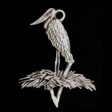 Jabiru Stork Pewter Ornament | Andy Schumann | SCHMC122113